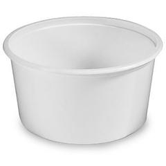 12 oz. White PP Plastic Tub, L409