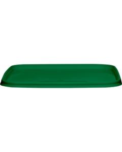 145mm Green PP Plastic Square Tamper Evident Lid for 32-48 oz. Containers