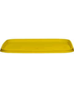 145mm Yellow PP Plastic Square Tamper Evident Lid for 32-48 oz. Containers