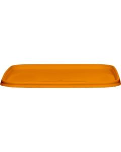 145mm Orange PP Plastic Square Tamper Evident Lid for 32-48 oz. Containers