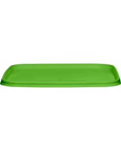 145mm Light Green PP Plastic Square Tamper Evident Lid for 32-48 oz. Containers