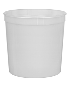 1.25 Gallon (163 oz.) Natural HDPE Plastic Round Container, L801