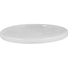 Natural LLDPE Plastic Tub Lid, Single Seal, L801