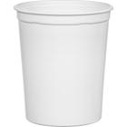 32 oz. White PP Plastic Round Container, L409