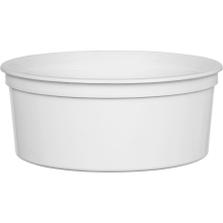 24 oz. White PP Plastic Round Container, L513
