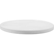 White LLDPE Plastic Tub Lid, Single Seal, L811