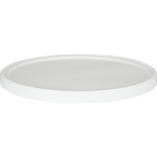 White LLDPE Plastic Tub Lid, Single Seal, L607