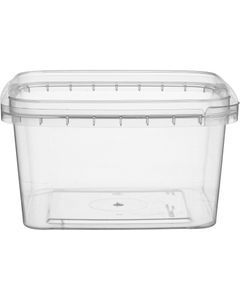 12 oz. (375 ml) Clear PP Tamper Evident Square Container, 105mm 105-TE