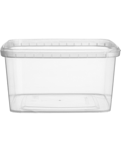 32 oz. (1 Liter) Clear PP Tamper Evident Square Container, 145mm 145-TE
