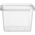 16 oz. (500 ml) Clear PP Tamper Evident Square Container, 105mm 105-TE