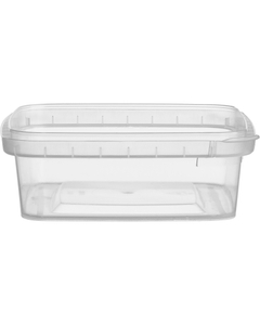 7 oz. Clear PP Plastic Square Tamper Evident Container, 105mm