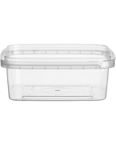 8 oz. (250 ml) Clear PP Tamper Evident Square Container, 105mm 105-TE