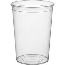 32 oz Clear PP Magik Container, 1 Liter, Use w/ Magik Lids, 250/Box