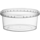10 oz. Clear PP Plastic Round Tamper Evident Container, 110mm