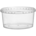 12 oz. (375 ml) Clear PP Round Tamper Evident Container, 110mm 110-TE