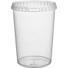 32 oz. (1 Liter) Clear PP Round Tamper Evident Container, 110mm 110-TE