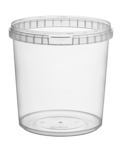 24 oz. Clear PP Plastic Round Tamper Evident Container, 110mm