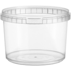 16 oz. (500 ml) Clear PP Round Tamper Evident Container, 110mm 110-TE