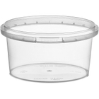 7 oz. Clear PP Plastic Round Tamper Evident Container, 89mm