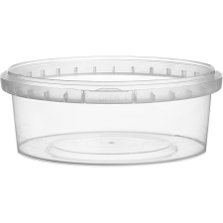 8 oz. (250 ml) Clear PP Round Tamper Evident Container, 110mm 110-TE