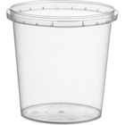 13 oz. Clear PP Plastic Round Tamper Evident Container, 89mm