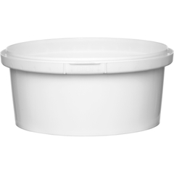 10 oz. White PP Plastic Round Tamper Evident Container, 110mm
