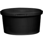 12 oz. Black PP Plastic Round Tamper Evident Container, 110mm