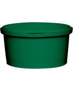 12 oz. Green PP Plastic Round Tamper Evident Container, 110mm