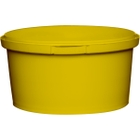 12 oz. Yellow PP Plastic Round Tamper Evident Container, 110mm