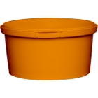 12 oz. Orange PP Plastic Round Tamper Evident Container, 110mm