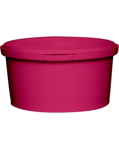 12 oz. Pink PP Plastic Round Tamper Evident Container, 110mm