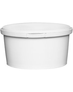 12 oz. (375ml) White PP Round Tamper Evident Container, 110mm 110-TE