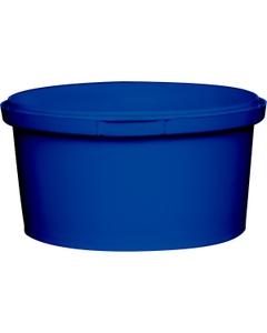 12 oz. Blue PP Plastic Round Tamper Evident Container, 110mm