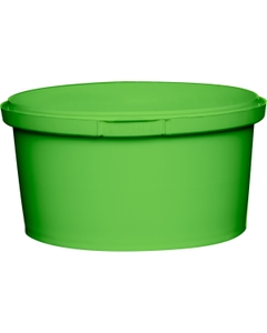 12 oz. Light Green PP Plastic Round Tamper Evident Container, 110mm