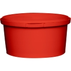 12 oz. Red PP Plastic Round Tamper Evident Container, 110mm