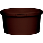 12 oz. Brown PP Plastic Round Tamper Evident Container, 110mm