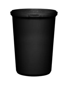 32 oz. Black PP Plastic Round Tamper Evident Container, 110mm
