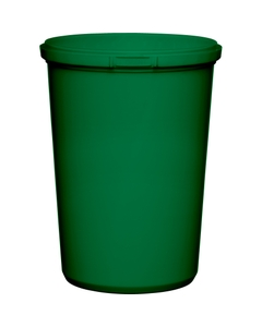 32 oz. Green PP Plastic Round Tamper Evident Container, 110mm