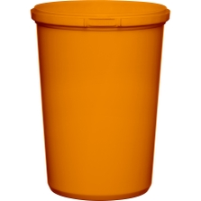 32 oz. Orange PP Plastic Round Tamper Evident Container, 110mm