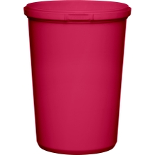 32 oz. Pink PP Plastic Round Tamper Evident Container, 110mm