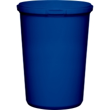 32 oz. Blue PP Plastic Round Tamper Evident Container, 110mm