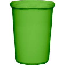 32 oz. Light Green PP Plastic Round Tamper Evident Container, 110mm