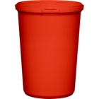 32 oz. Red PP Plastic Round Tamper Evident Container, 110mm
