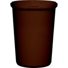 32 oz. Brown PP Plastic Round Tamper Evident Container, 110mm