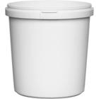 24 oz. White PP Plastic Round Tamper Evident Container, 110mm