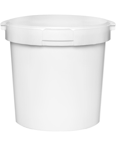 48 oz. White PP Round Tamper Evident Container, 145mm