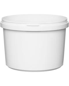 16 oz. White PP Plastic Round Tamper Evident Container, 110mm