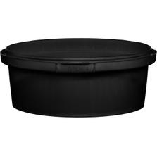 8 oz. Black PP Plastic Round Tamper Evident Container, 110mm