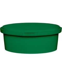 8 oz. Green PP Plastic Round Tamper Evident Container, 110mm
