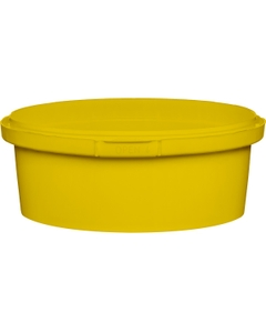 8 oz. Yellow PP Plastic Round Tamper Evident Container, 110mm